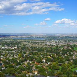 Aerial view of Tri-Cities, Washington
